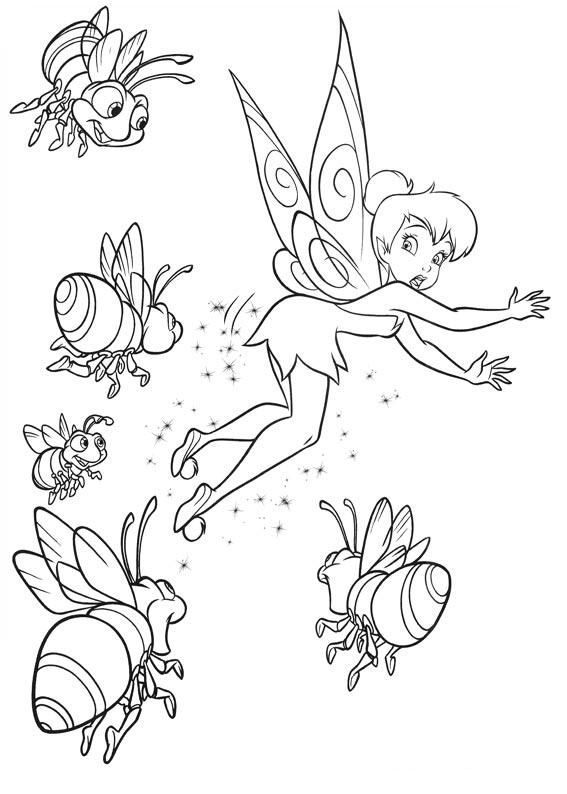 Tinkerbell from Peter Pan | Coloring Pages for Kids | Pinterest ...