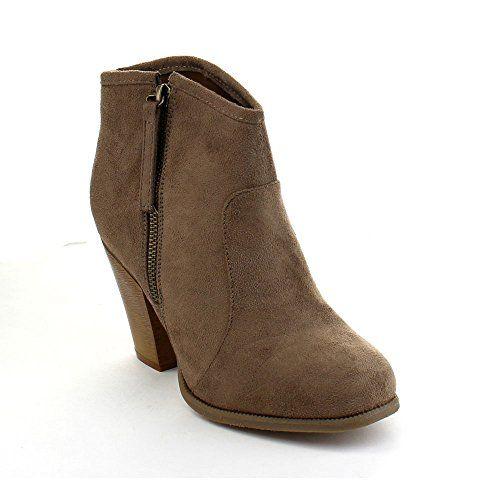 fc39c7f87ce7 LILIANA ROMANE-1 Women s Chunky Heel Riding Ankle Booties