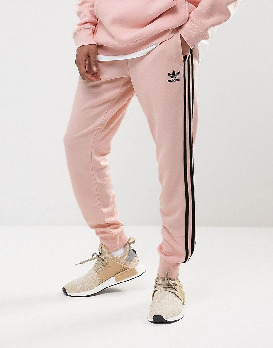 Adidas Originals Superstar Cuffed Jogger In Pink BS4656 - Pink | Products | Pinterest | Products