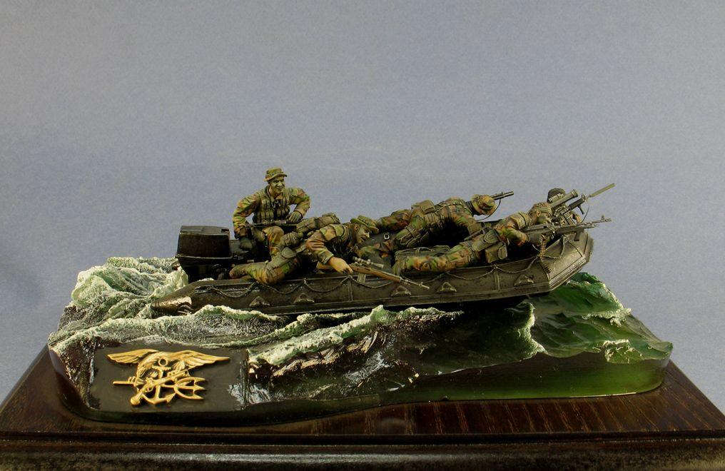 SEAL Team 1:35 Hobby Fan Resin Kit  #hobbyfan #seal #team #scalemodel #diorama #modern #resin