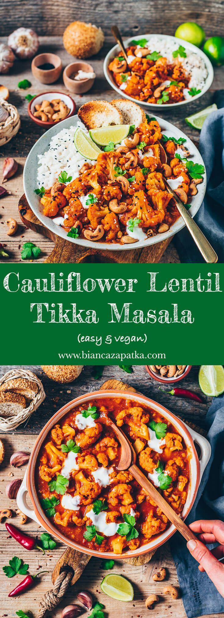 Cauliflower Tikka Masala (easy & vegan) - Bianca Zapatka | Recipes