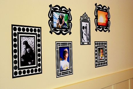 Re-Stickable Decal Photo Frames   Display kids art, Display and ...