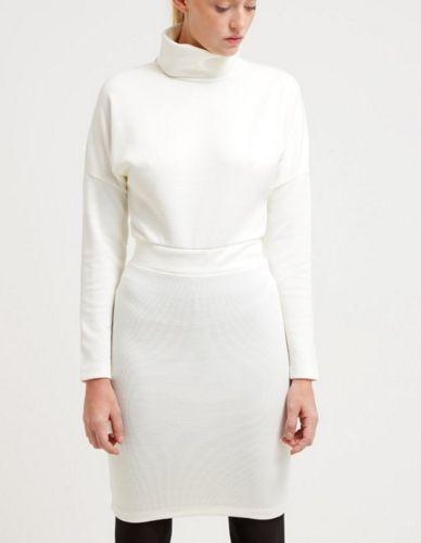 d32cfb1338 Bik Bok LIV Sukienka na zimę biała white
