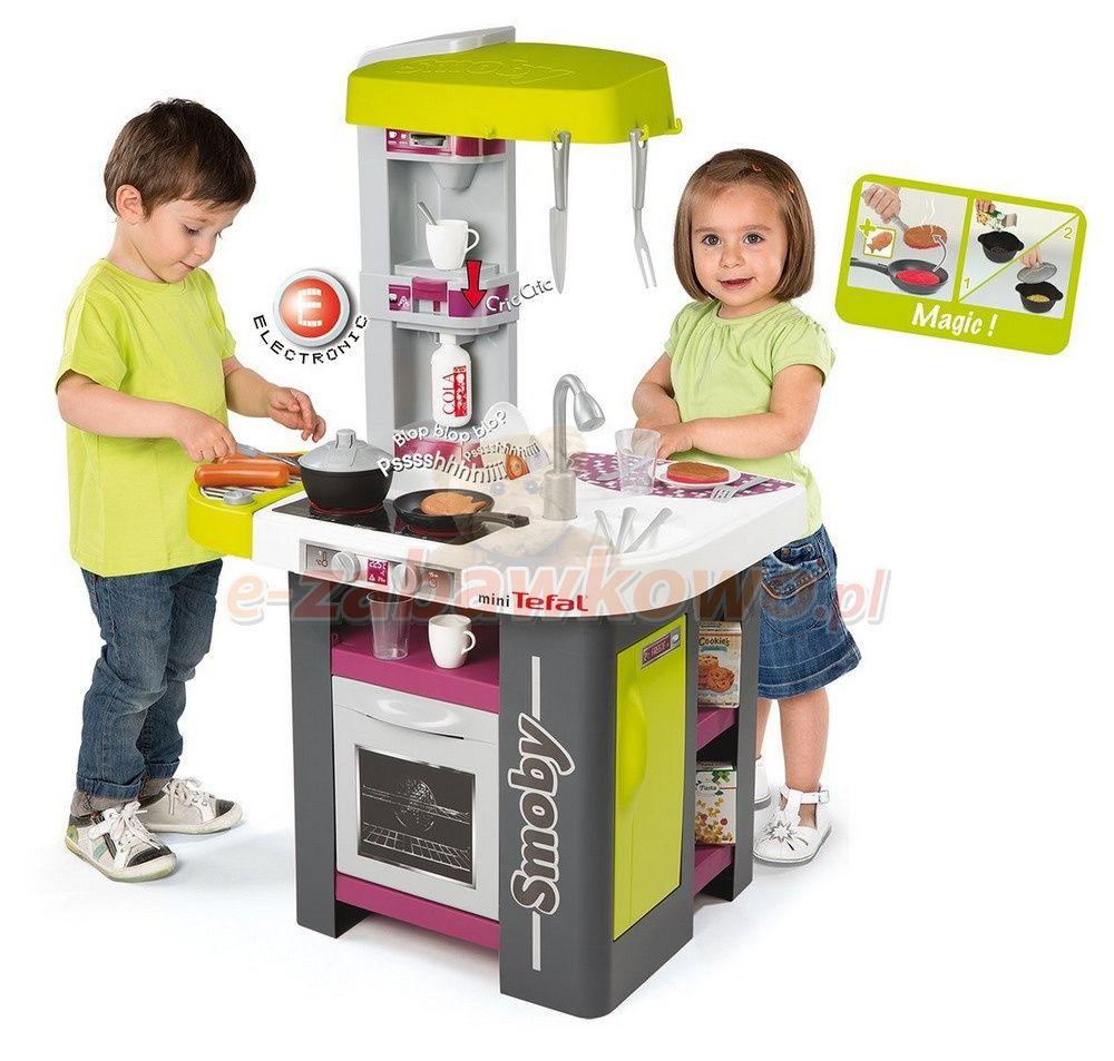 Smoby Kuchnia Elektroniczna Mini Tefal Studio Z Grillem 311001 Tefal Kitchen Cart Bbq