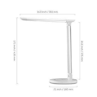 [Top Rated Desk Lamp] TaoTronics LED Table Lamps Dimmable Touch Eye-Care with USB Charger Port