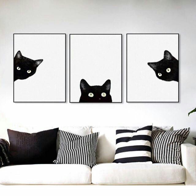 Pet ART PRINT Cat Quote Stay Curious Animal Wall Art Gift Cat Lover B /& W