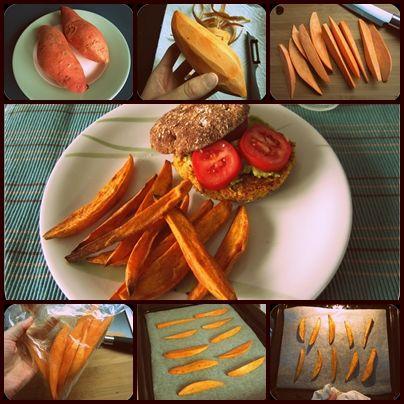Melis bunte Studentenküche: Veggie-Burger mit Süßkartoffelpommes