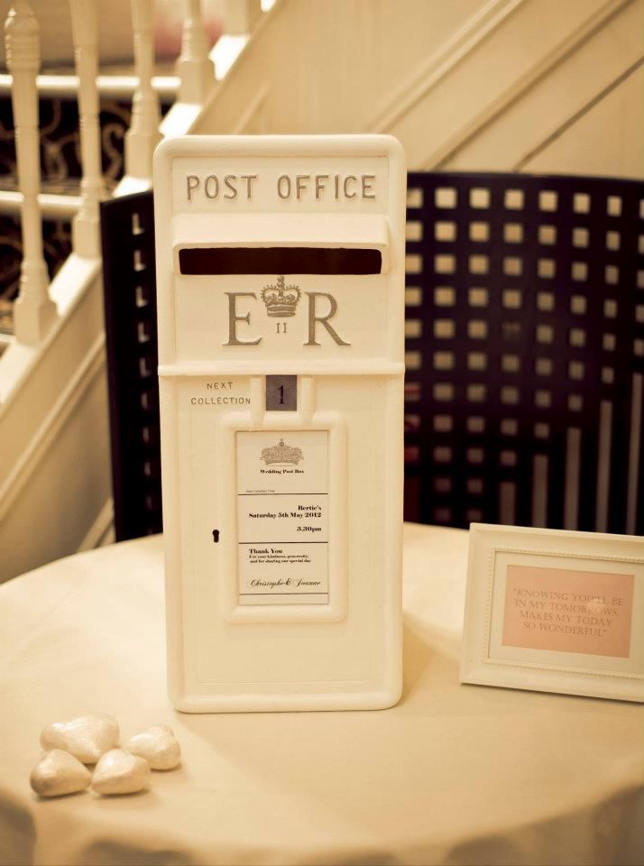 Gorgeous Wedding Postbox With Personalised Keepsake Insert From The Hire Collection Pamelladunnco