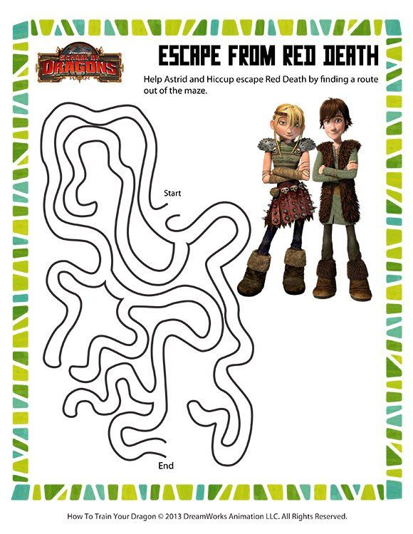 Free How To Train Your Dragon Printables Downloads And Crafts