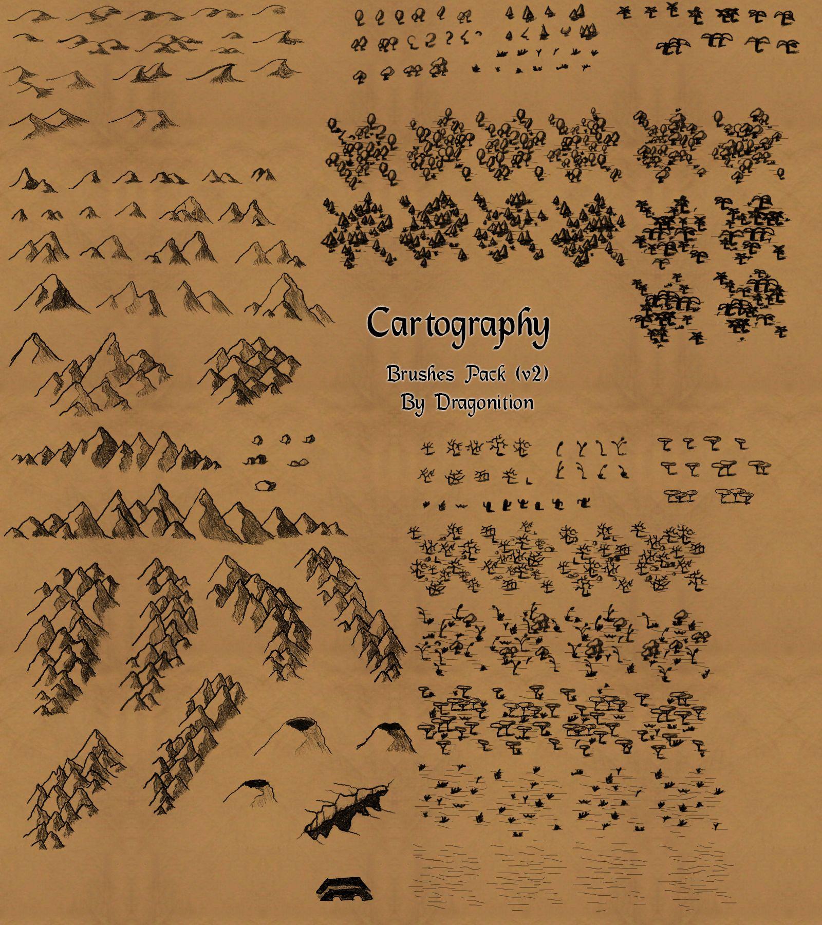 Cartography brushes by Eragon2589 deviantart com on @DeviantArt