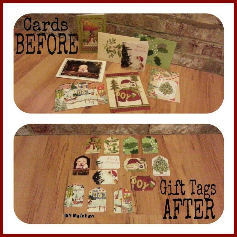 Repurposing My Christmas Cards.