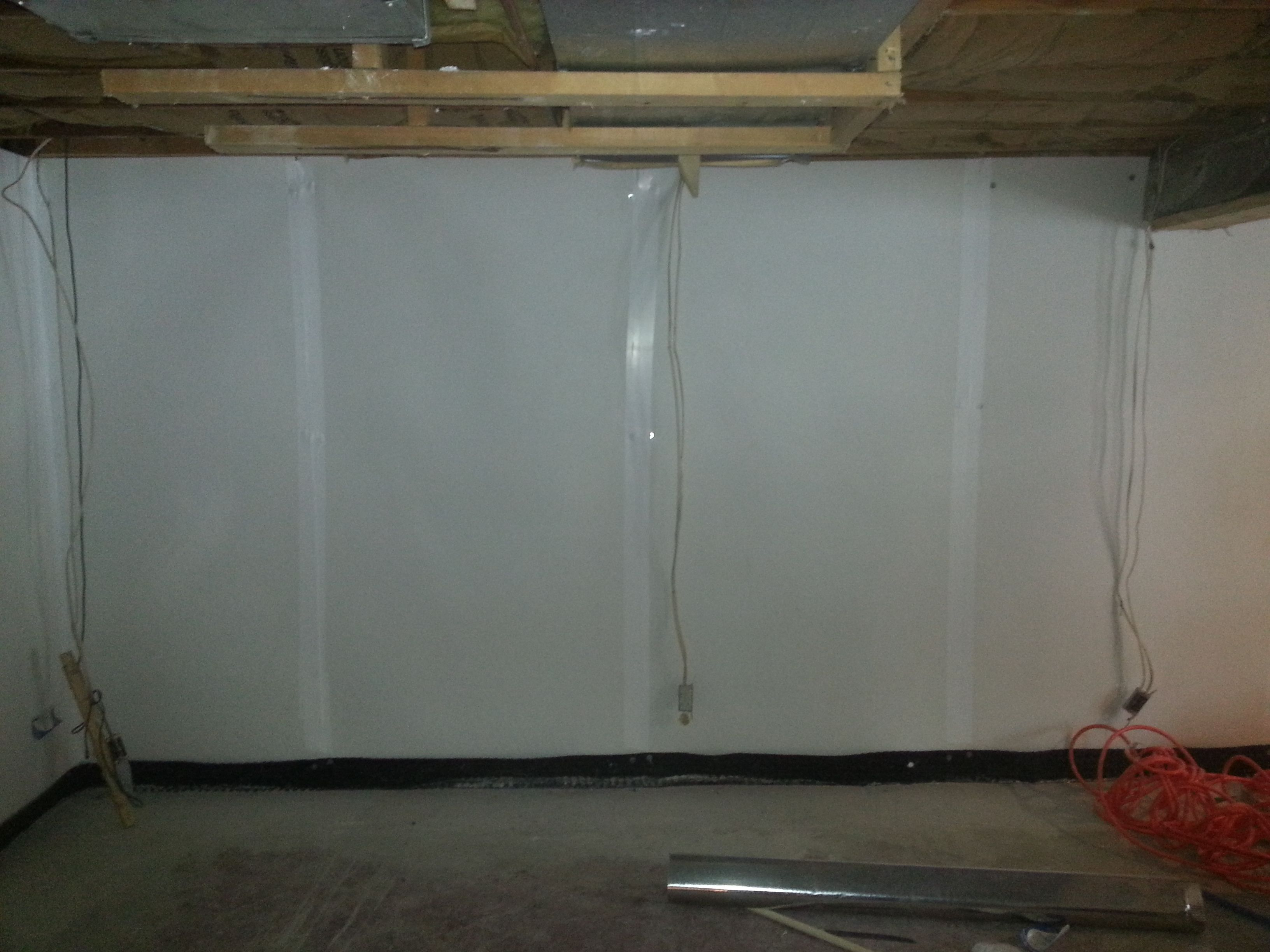 Basement Drainage System With Frp Panels In Indianapolis Indiana