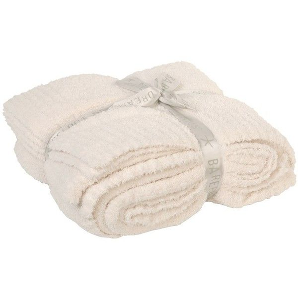Barefoot Dreams Throw Blanket CozyChic Cream (175 AUD) ❤ liked on Polyvore featuring home, bed & bath, bedding, blankets, fillers, decor, knit blanket, cream throw, ivory throw blanket and barefoot dreams blankets