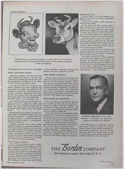 Borden Company – Elsie the Cow – Two Pages of History (1951)