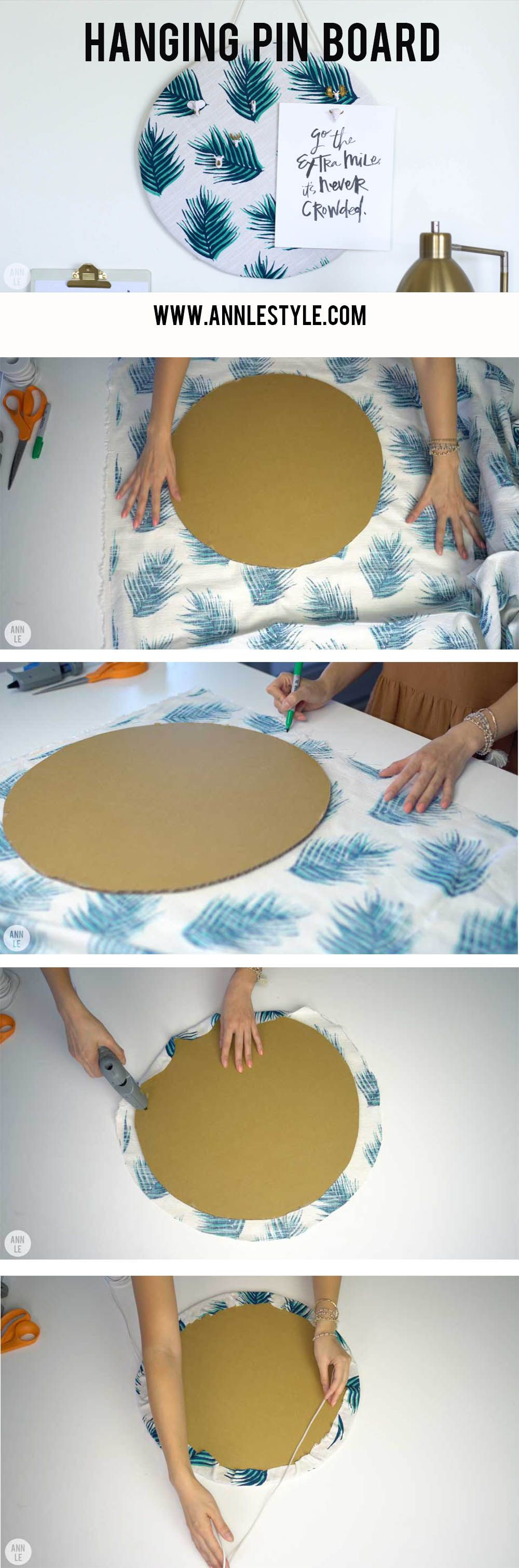Easy Cardboard Pin Board | 5 DIY Desk Decors for Your Home Office ...