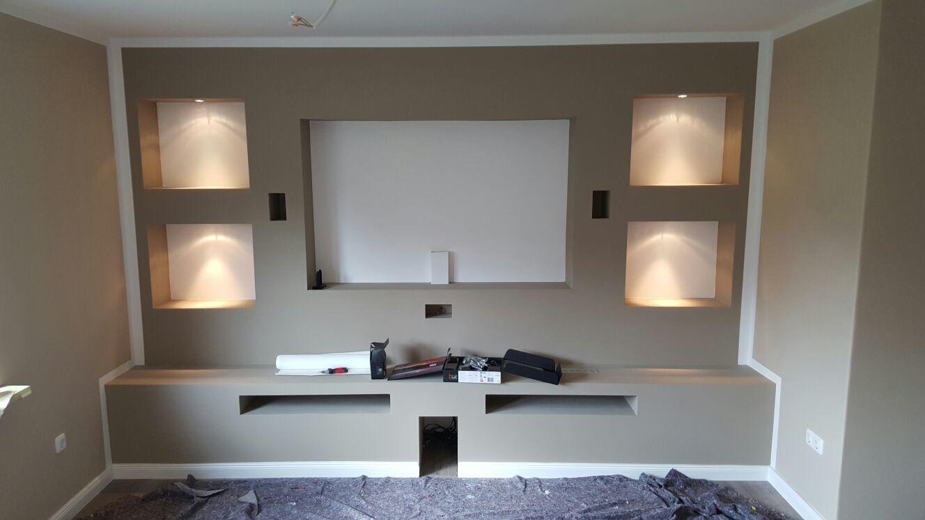 Extra Anfertigungen - Tv wand trockenbau in 6  Living room tv