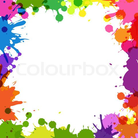 13805ce23c45 Vector of  Frame With Color Blobs  on Colourbox