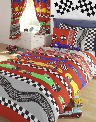 Formula F 1 Racing Cars Boys Reversible Single Bed Duvet Cover Quilt Bedding Set Kids Club Http Www Amazon Com Duvet Bedding Bed Duvet Covers Kids Bed Linen