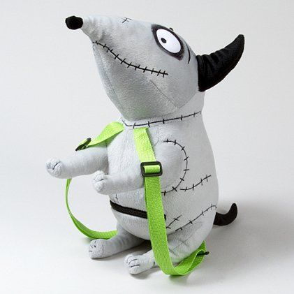 Sweet A Lil Spooky Frankenweenie Sparky Plush Backpack Plush Backpack Spooky Designs Cute Toys