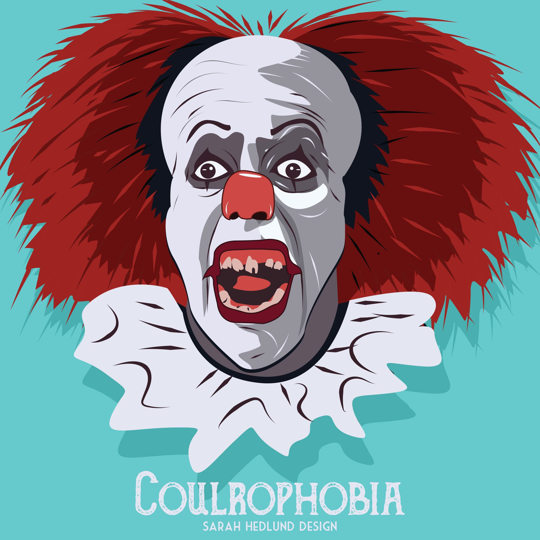 day 25, coulrophobia: fear of clowns, i was scared to walk past