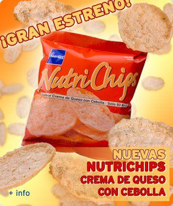 Nutrichips Crema de queso con cebolla!!! para chuparse los dedos!!