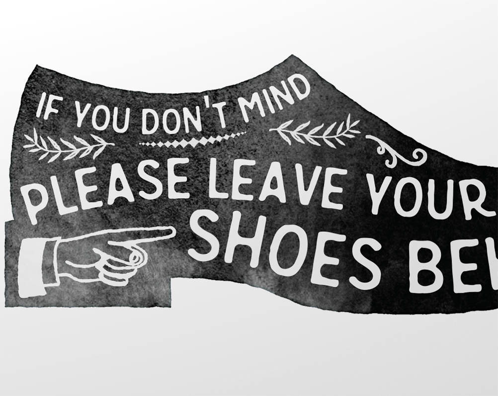 Please Remove Your Shoes Sign Zoomed Home Dream
