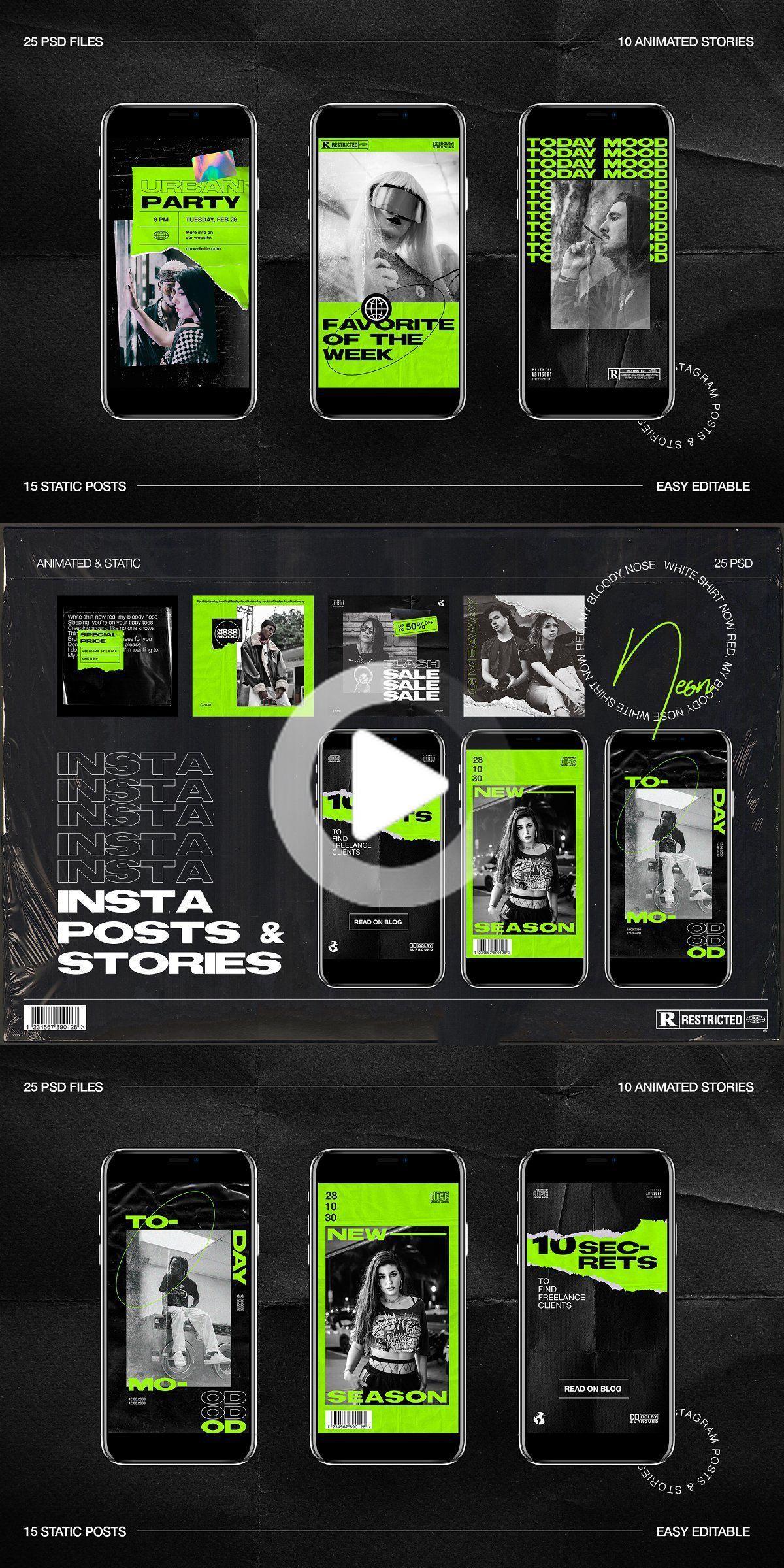 Neon Instagram Posts & Stories in 2020 Instagram ads