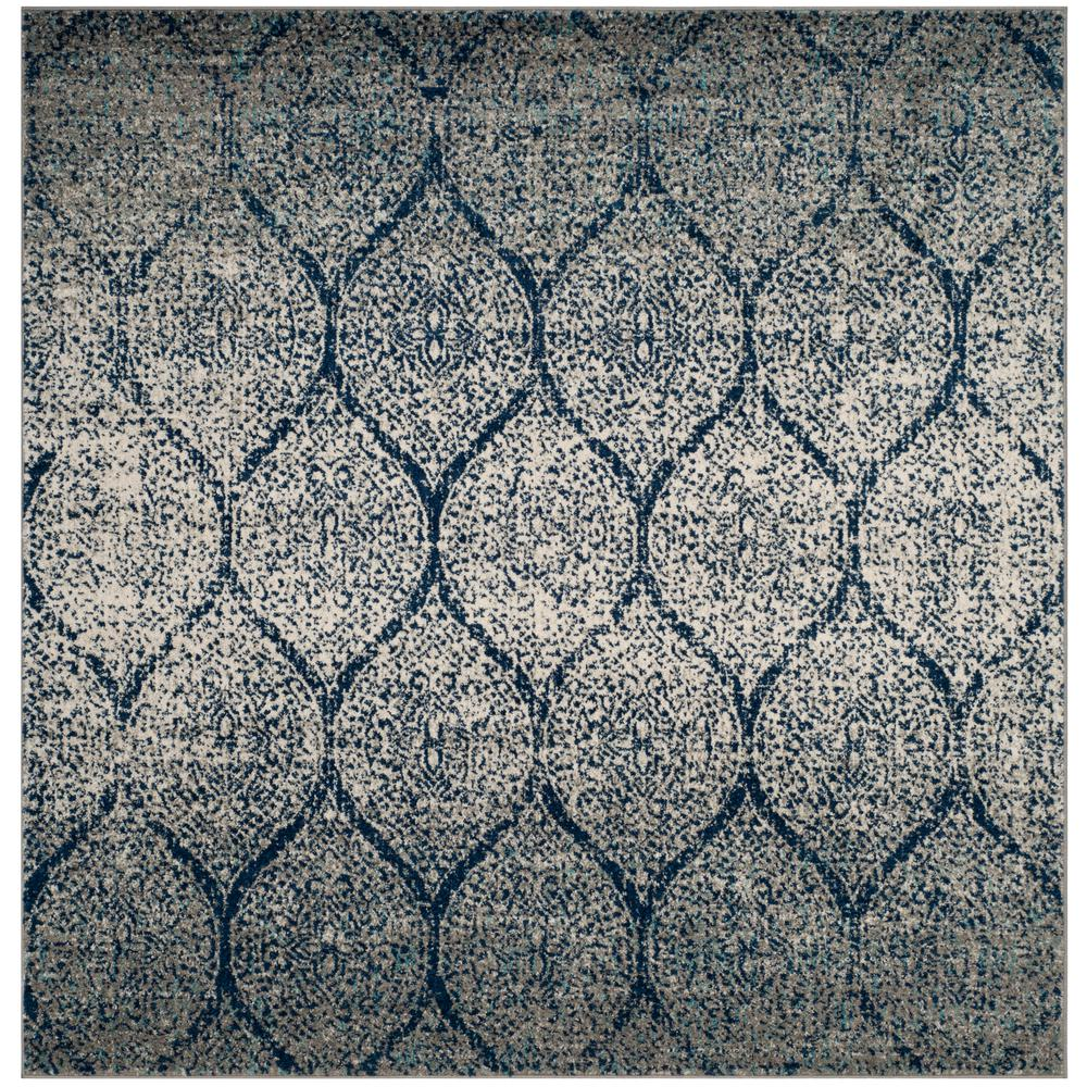 Safavieh Madison Navy Silver 5 Ft X 5 Ft Square Area Rug Area Rugs Square Rugs Rugs