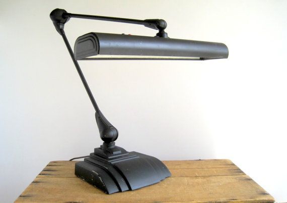 Vintage Industrial Flexo Desk Drafting Lamp By Birdinhandvtg
