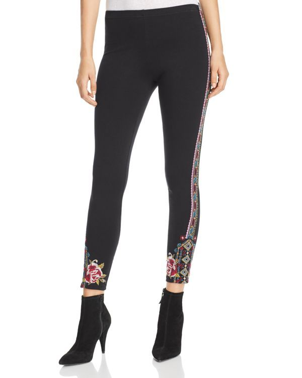 2adf4263f569 Johnny Was Collection Langley Embroidered Leggings