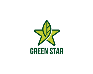 Green Star Logo Design A Simple And Clean Logo That Combine Between Star And Green Environment And Clean Energy Star Logo Design Cleaning Logo Logo Design