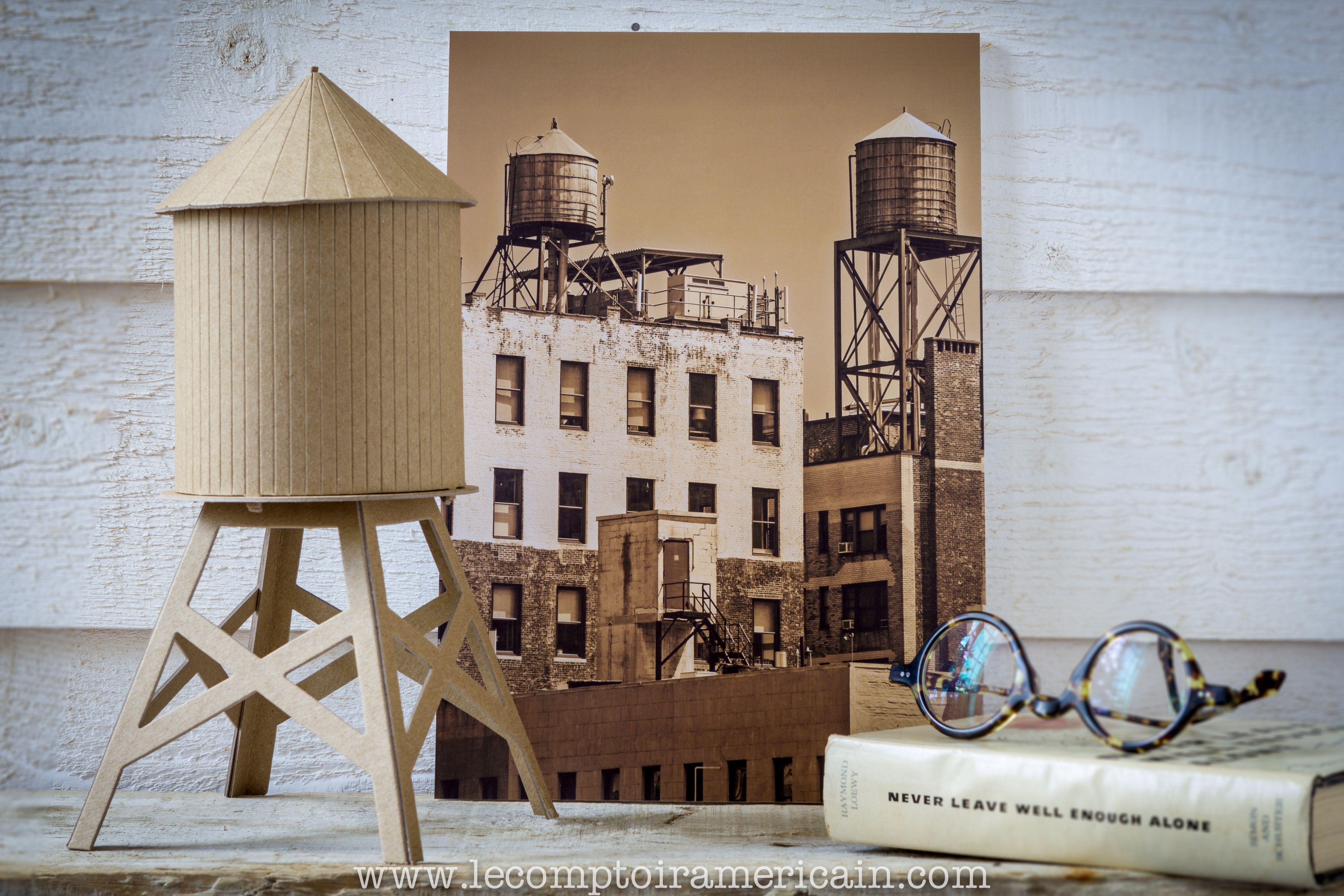 Maquette d un réservoir d eau New Yorkais americanproduct