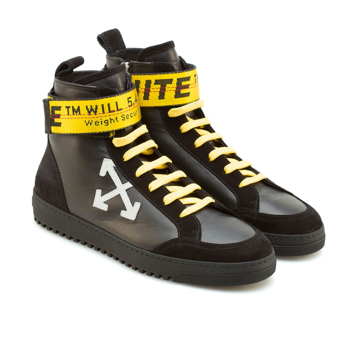 new product 58454 57378 High-top sneakers from the F W2017-18 Off-White c o Virgil Abloh collection  in black