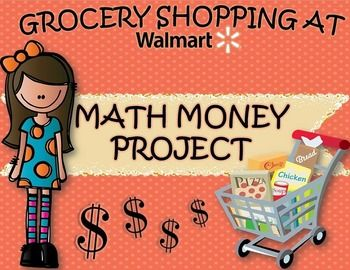 Math Money Project Grocery Shopping at Walmart Real World Activity Decimals #mathintherealworld