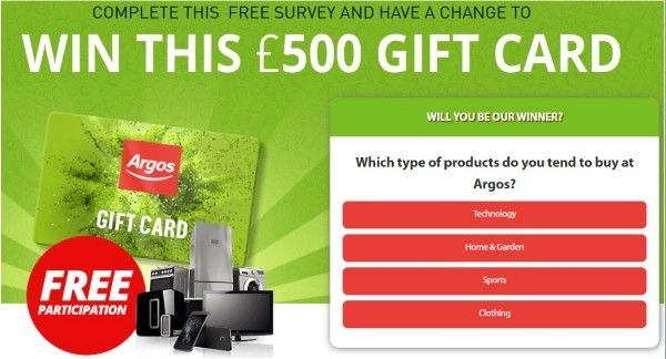 Get a £500 Argos Gift Card! (With images) | Buy gift cards ...