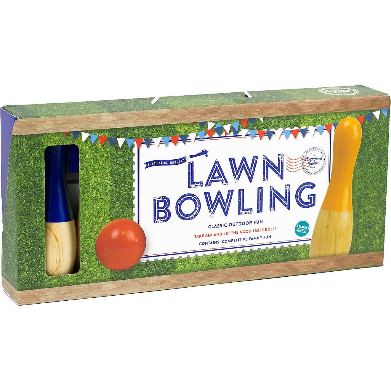If you are having a gathering with family and friends, make sure you have this lawn bowling set! This set comes with 6 wooden pins and a wooden ball to let you and your guests enjoy a rousing game of bowling from the comforts of your backyard. Ages 6+