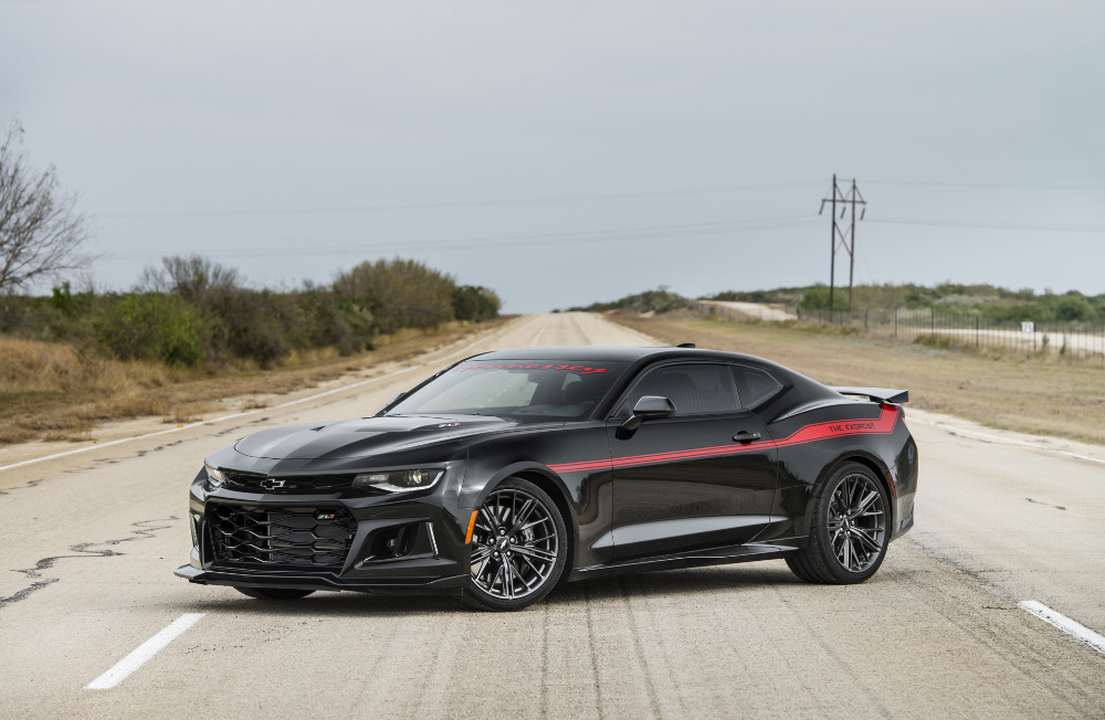 1 000 Hp Exorcist Camaro Zl1 Leaves Hennessey S Shop For Real World Testing Carscoops Muscle Cars Camaro Camaro Classic Cars Muscle