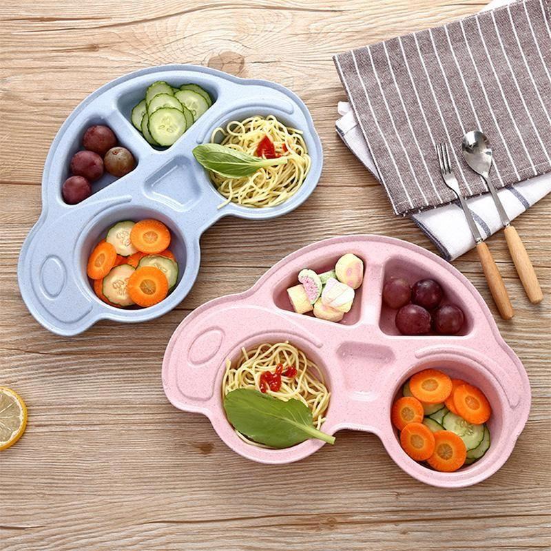 Baby Bowls Cartoon Car Kids Food Plate Tableware Baby Food Recipes Plates Bowls Kids Meals