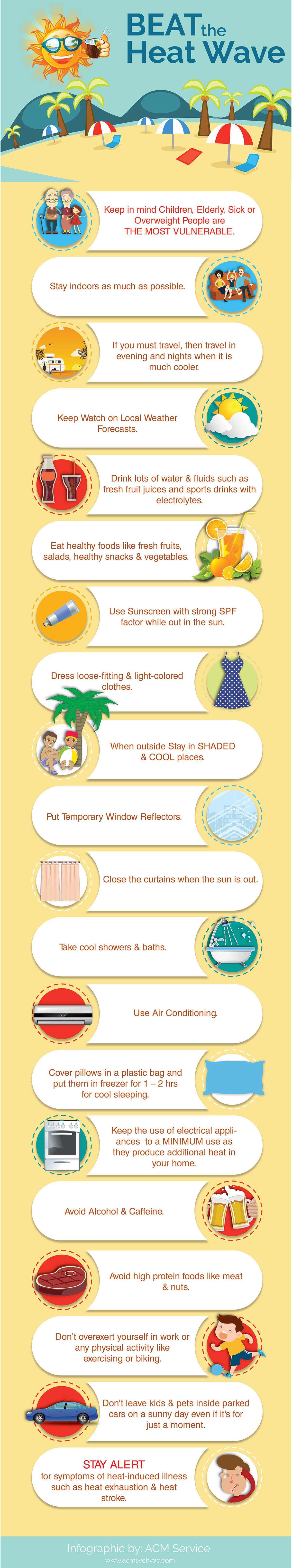 Infographic How To Beat The Heat Wave Having A Hard Time Battling The Hot Weather In Summer Then Check Out This Info With Images Summer Of Love Beat The Heat Heatwave