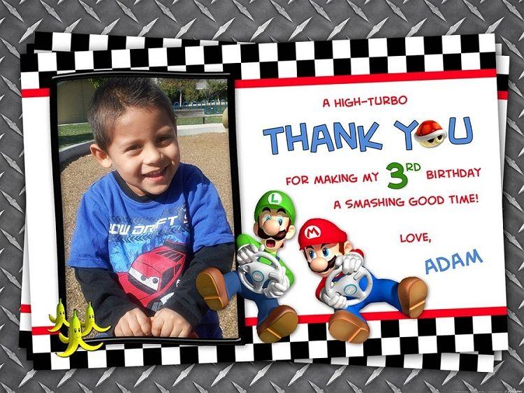 Mario Kart Birthday Party Invitations – Mario Kart Party Invitations