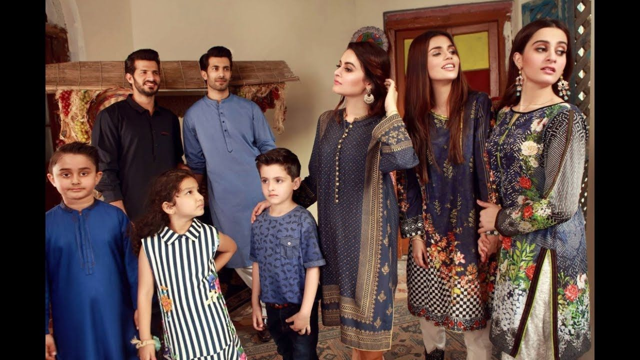 c7768a813898 Sweet Sisters of Minal Khan and Aiman Khan at Edenrobe Eid collection 2017