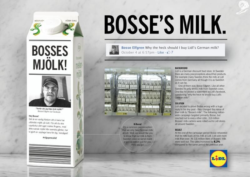 2015 Direct Gold: Bossie's Milk, Lidl and Ingo, Stockholm