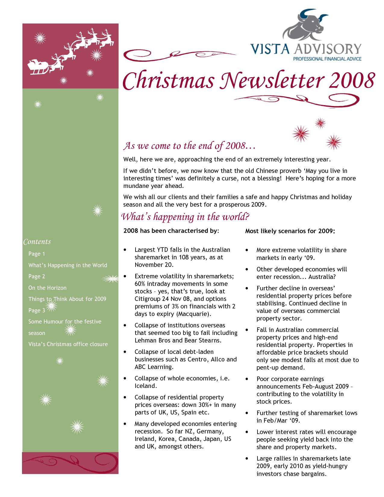 Christmas Family Newsletter Examples Christmas lettering