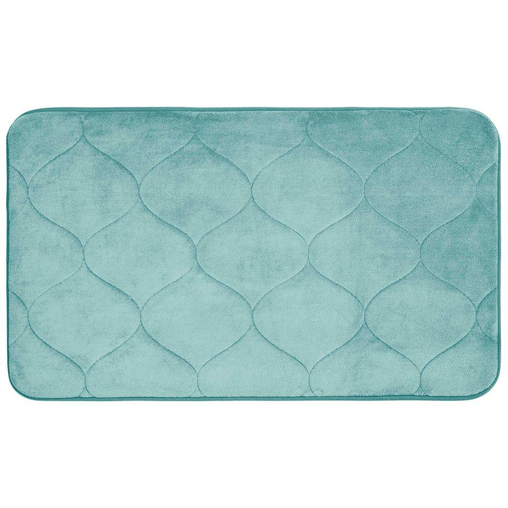 Bouncecomfort Palace Aqua 20 In X 34 In Memory Foam Bath Mat