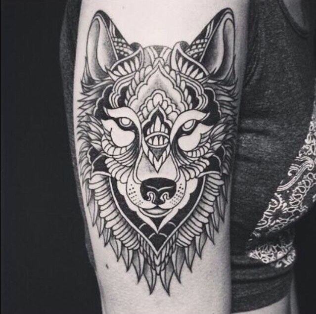 Le Tattoo Loup Pourrait Symboliser La Perseverance Mais Pas