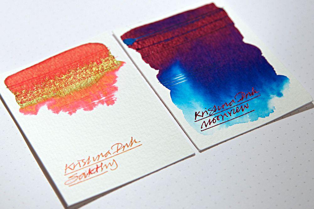 Krishna Sheening Inks Swatch Tests Fountain Pen Ink Swatch