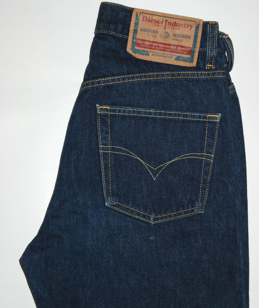a544215f2816 VINTAGE CLASSIC DIESEL TYPE RR55 INDIGO BLUE STRAIGHT HIGH RISE JEANS W28  L32
