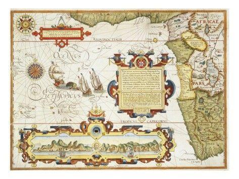 """Map of Western Africa by Arnold Florent van Langren after Jan Huygen van Linschoten Giclee Print $179.997 - 56"""" x 42"""""""