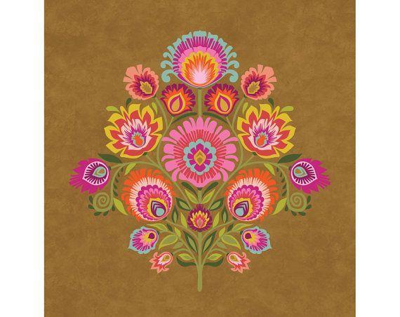 Wycinanki Giclee Folk Art Print \