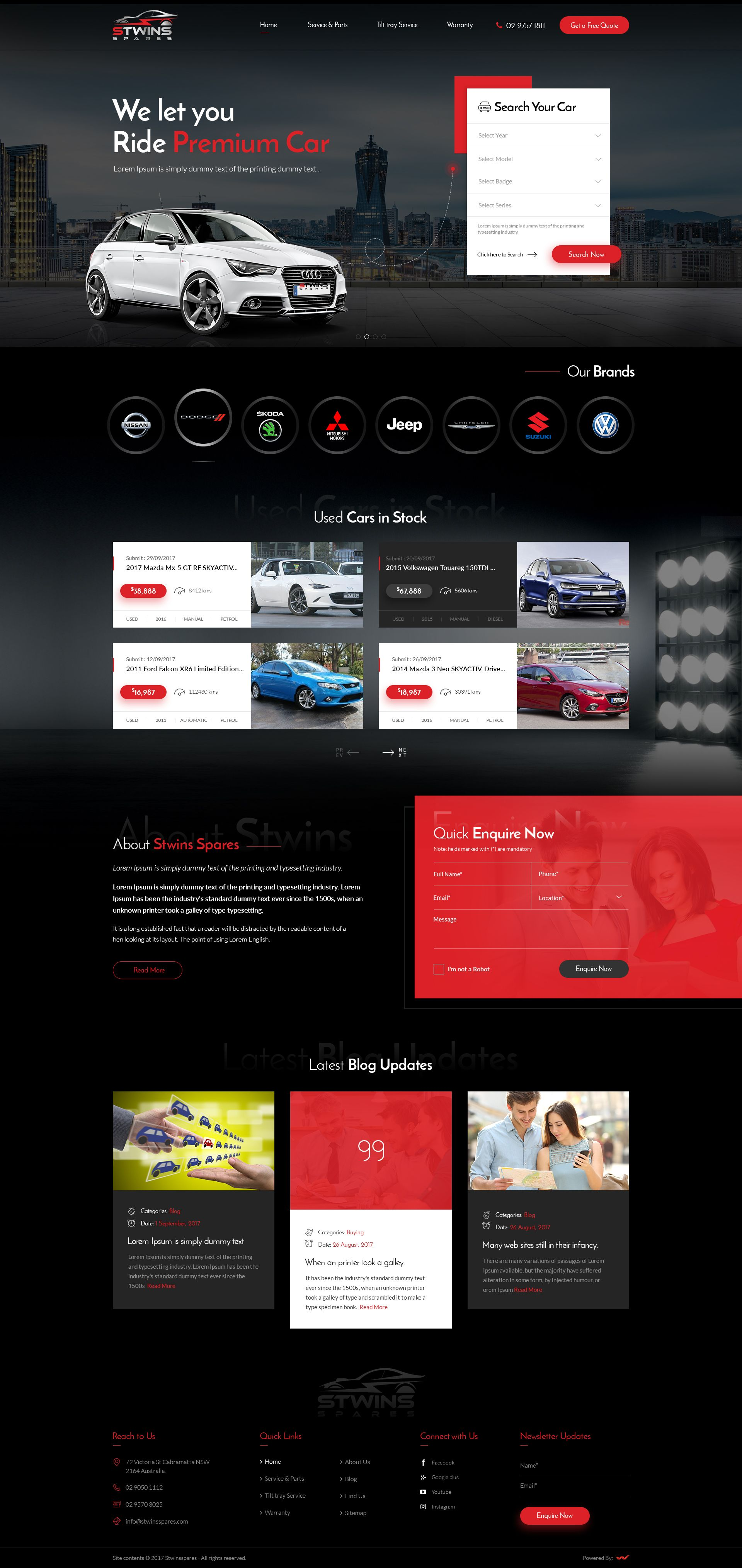 Website Design For Selling Used Car Parts In Sydney Used Cars